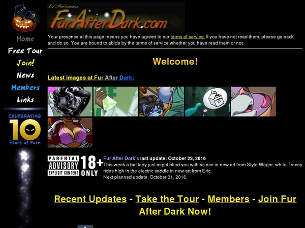 Signup For Fur After Dark With Paypal