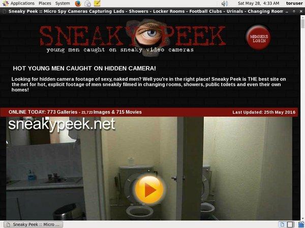 FreeSneaky Peek Password
