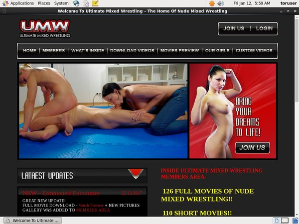 Free Ultimate Mixed Wrestling Subscription