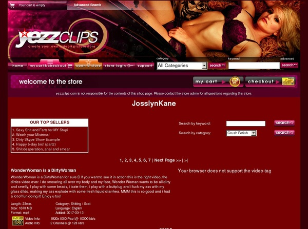 Josslynkane Signup Page