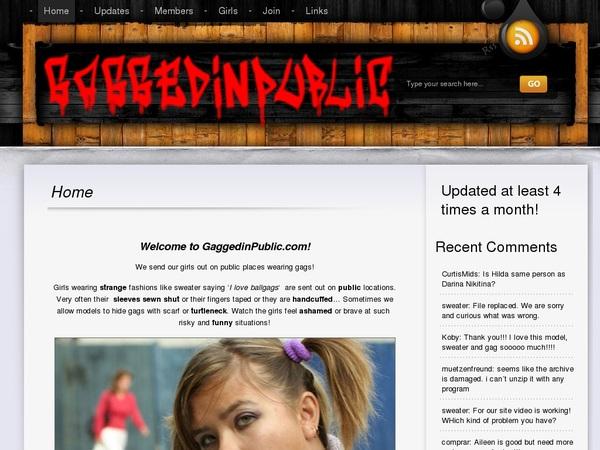 Gaggedinpublic.com Accept Pay Pal