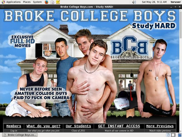 Broke College Boys パスワード